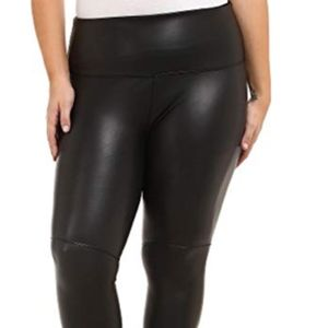 BN Lysse Vegan Leather Leggings, black, 3X